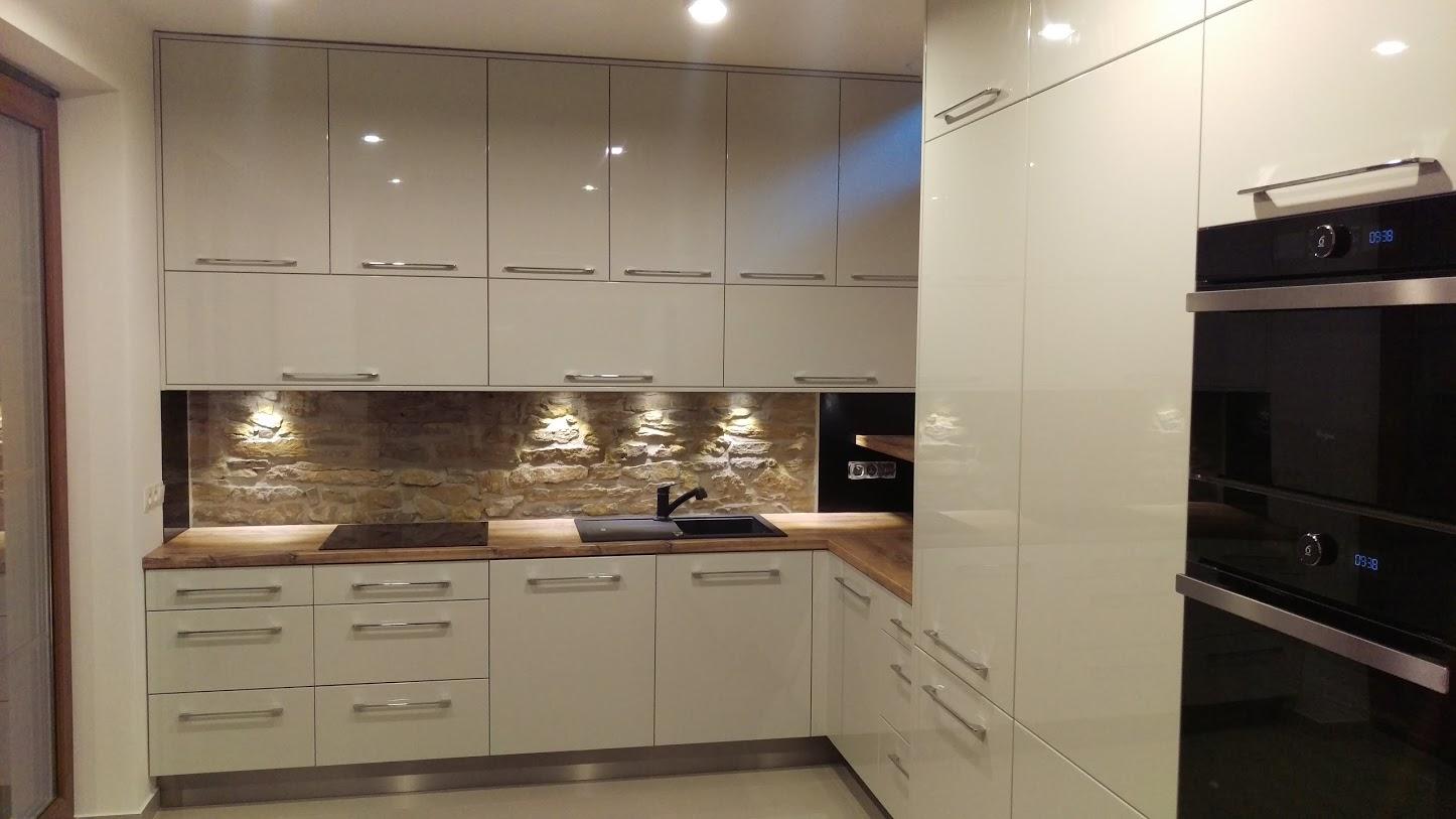 beżowa kuchnia lakier po�ysk wistolm nowoczesne